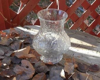 Vintage glass vase Anchor Hocking clear Rain flower vase