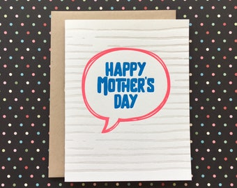 Mother's Day Bubble - letterpress card