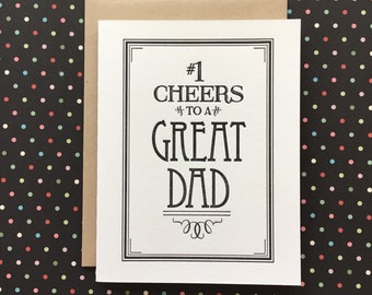 Cheers to a Great Dad - letterpress card