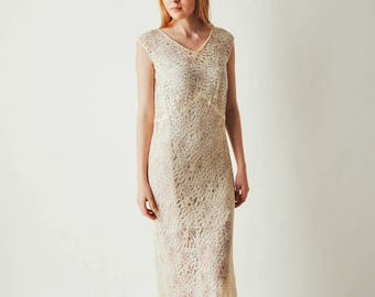 30s Ivory Lace Dress