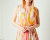 Vintage Silk Watercolor Dress