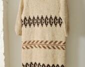 Vintage Nordic Sweater Dress