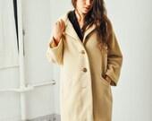 Vintage Bergdorf Goodman Cream Mohair Coat