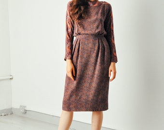 Vintage Neiman Marcus Polka Dot Print Dress