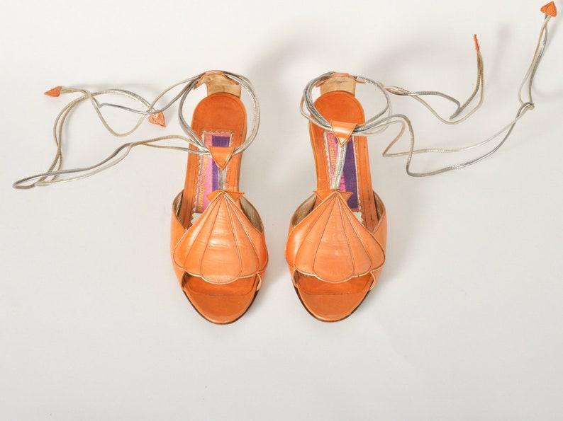 Vintage Susan Bennis Warren Edwards Ankle Wrap Sandals  Size image 0