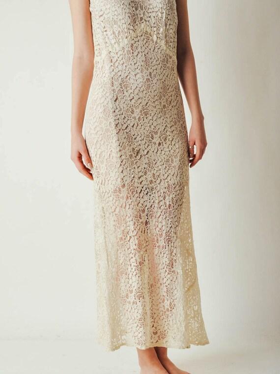 30s Ivory Lace Dress - image 9
