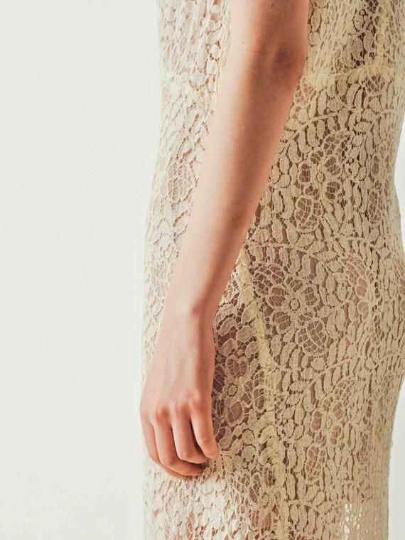 30s Ivory Lace Dress - image 8
