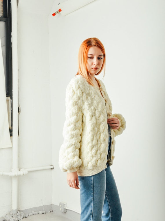 Vintage Chunky Textured Knit Sweater