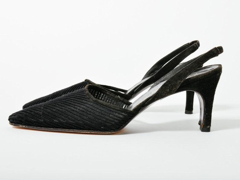 e1a434a03 Vintage YSL Yves Saint Laurent Slingback Heels 7 / Europe   Etsy