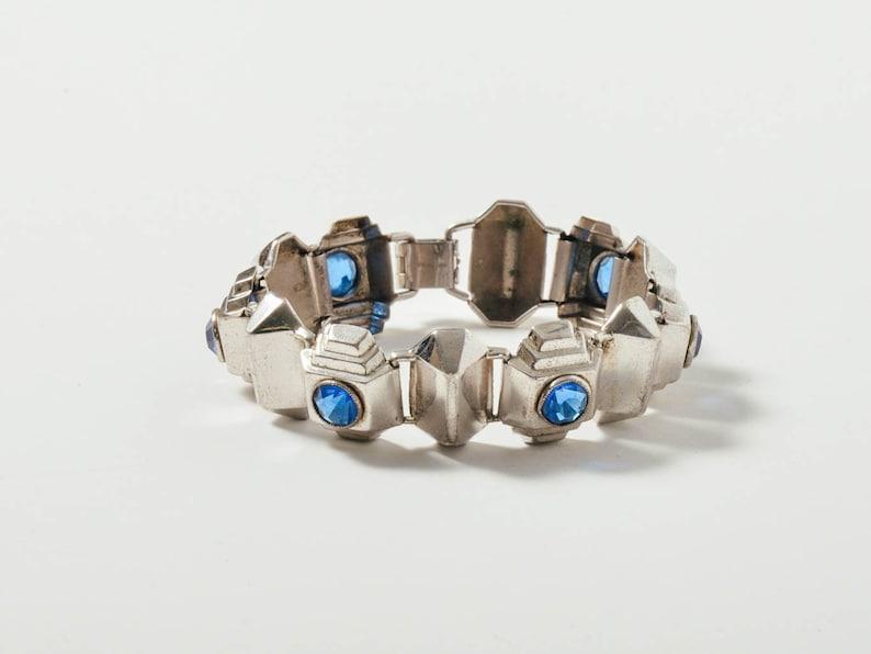 Vintage Art Deco Sterling Silver Bracelet image 0