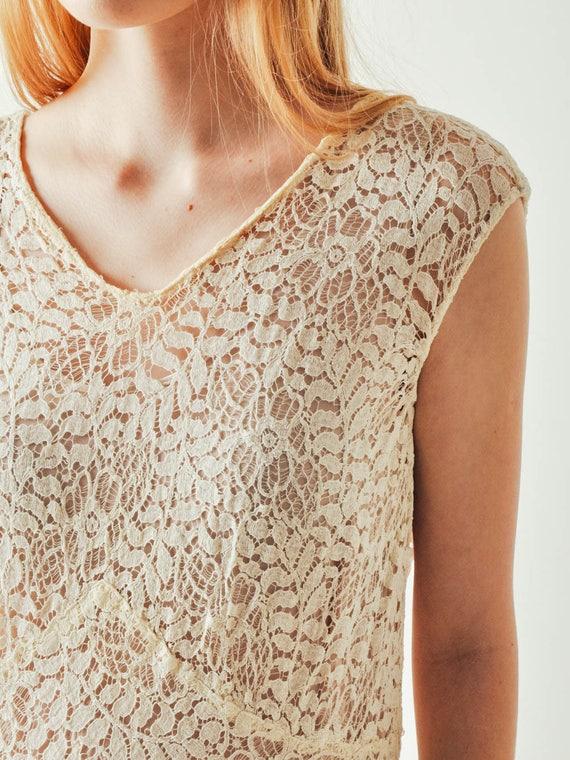 30s Ivory Lace Dress - image 3