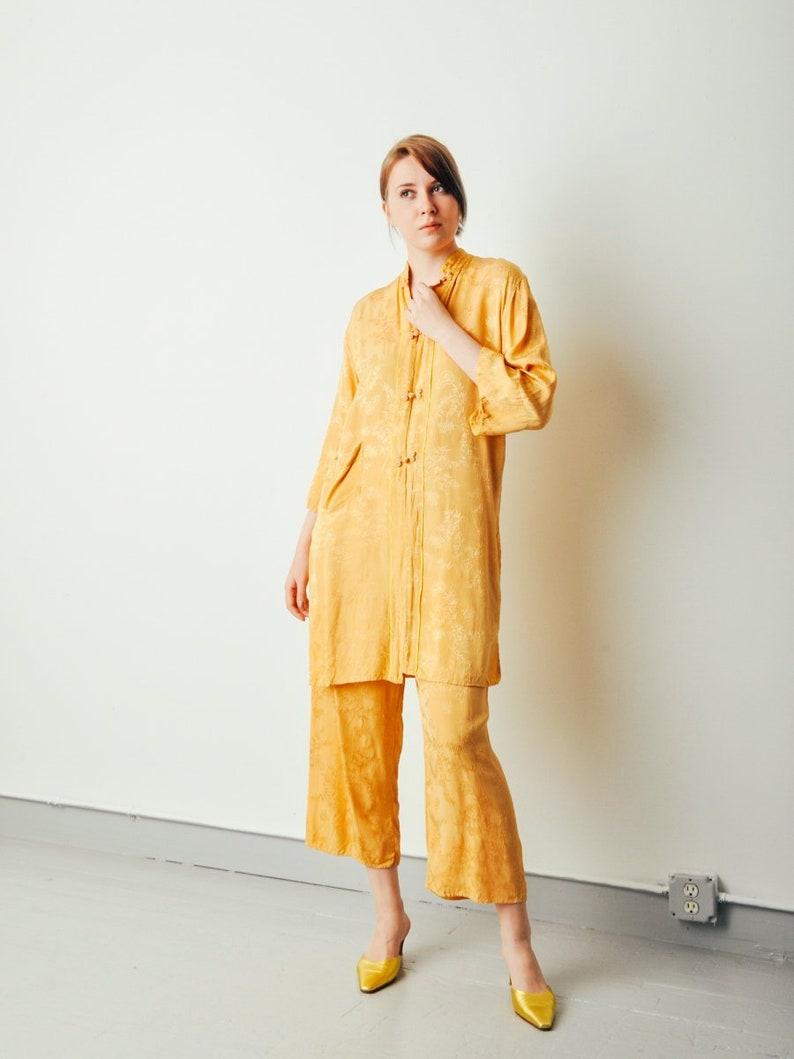 Vintage Mustard Yellow Pajama Set image 0