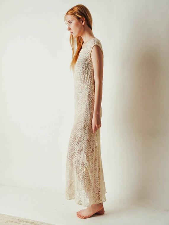 30s Ivory Lace Dress - image 6