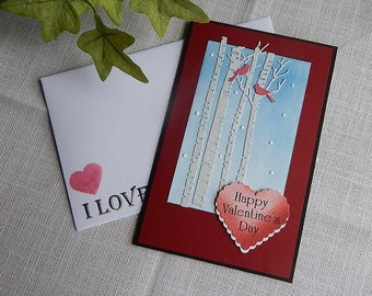 Handmade Valentine S Day Card Greeting Card Hearts Etsy