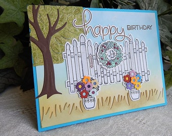 Handmade Birthday Card: Christian, birthday card, friend, family, blue, complete card, handmade, balsampondsdesign