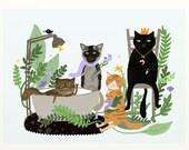 Custom Cat Portrait, Pet Illustration, Custom Pet Portrait, Pet Lover Gifts, Pet Memorial, Personalized Cat Portrait