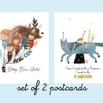 Feminist Postcard, Strong Woman Card, Set of 2 Postcards, Feminist Cards, Solidarity, Feminism, Sisterhood, Women's Rights
