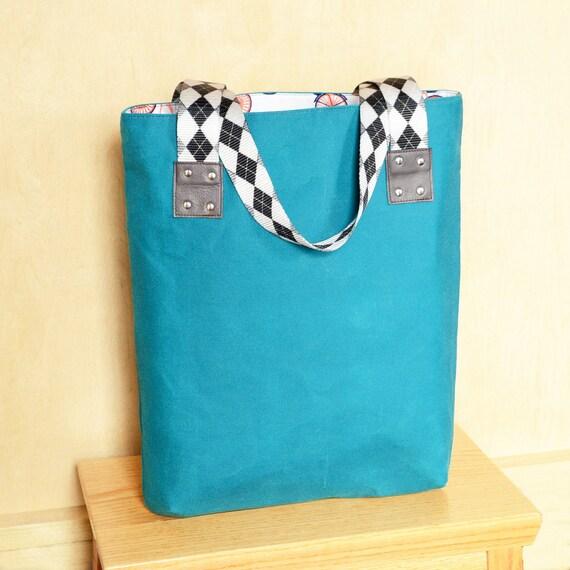 Waxed Canvas Tote Bag Womens Market Shoulder Totebag Unique  f5777f3aa3