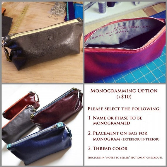 Personalized Leather Toiletry Bag for Men Custom Gents Dopp  009c9a088c09f