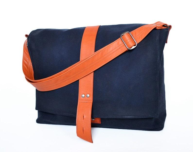 9a2265504892 Waxed Canvas Messenger Bag Crossbody Laptop Satchel Over the