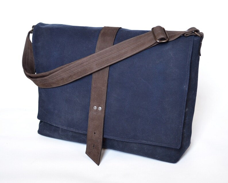 50fd82ac77 Canvas Messenger Bag Men Waxed Canvas Professional Satchel