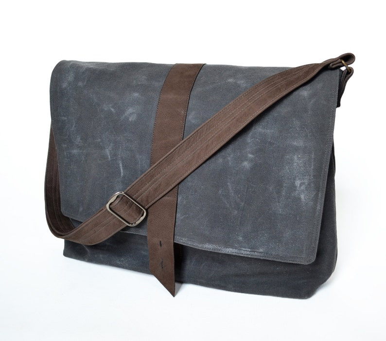 e1a6ea8e34 Waxed Canvas Bag Man Mens Messenger Laptop Bag Crossbody Wax