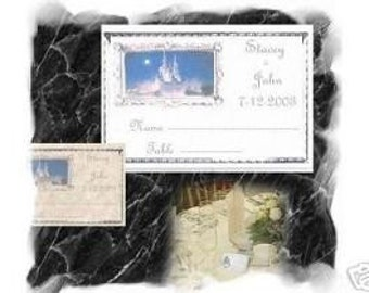 SILVER Wedding Cinderella Place cards placecards favors