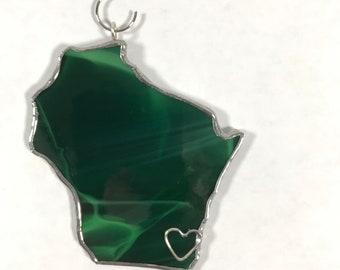 South Carolina State Stained Glass Ornament or Window Sun Catcher Lead Free