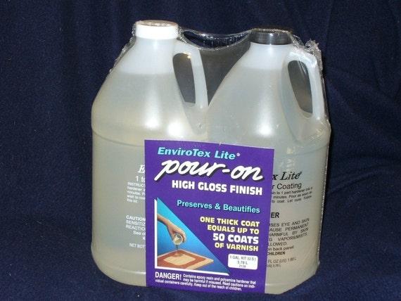 Envirotex Lite Pour On Hard Resin Gallon 38l High Gloss