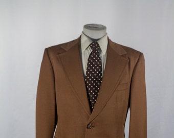 Men's Blazer / Vintage Brown Jacket / Size 45 Large #2050