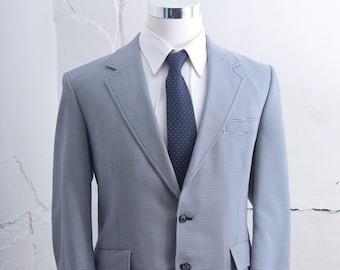Men's 44  Blazer / Vintage Houndstooth Jacket / Size Large