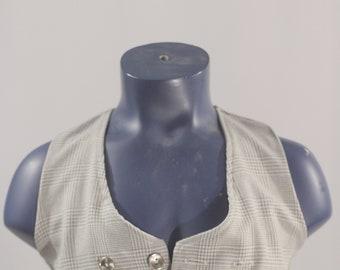 Boy's Suit Vest  / Vintage grey Waistcoat / Children Size 4  #2503