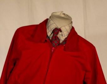 Men's Suit Vest / Vintage red jacket / Size 40 Medium //   #4010