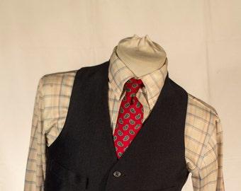 Men's Vest/Waistcoat / Vintage Vest / Size 36 Medium/Large // #4004