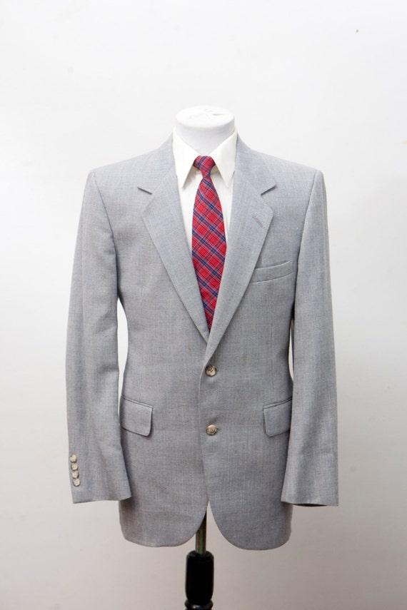 Men's Blazer / Vintage Bill Blass Grey Sport Jacke