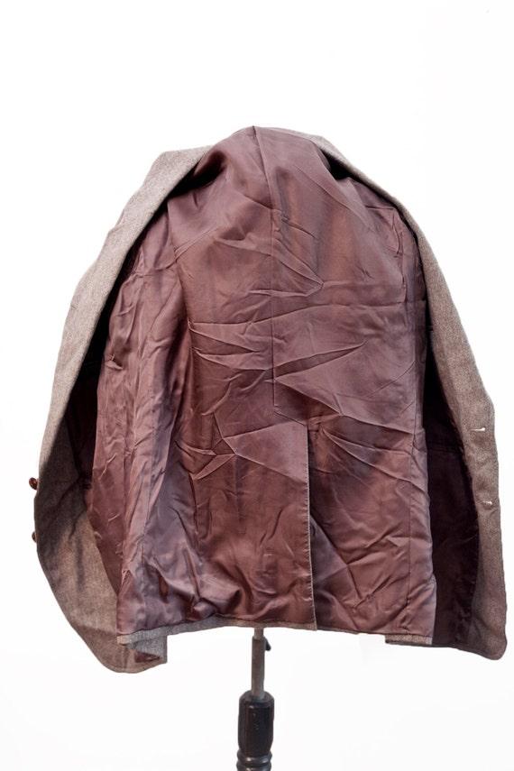 Men's Suit / Vintage Brown Blazer and Trousers / … - image 3