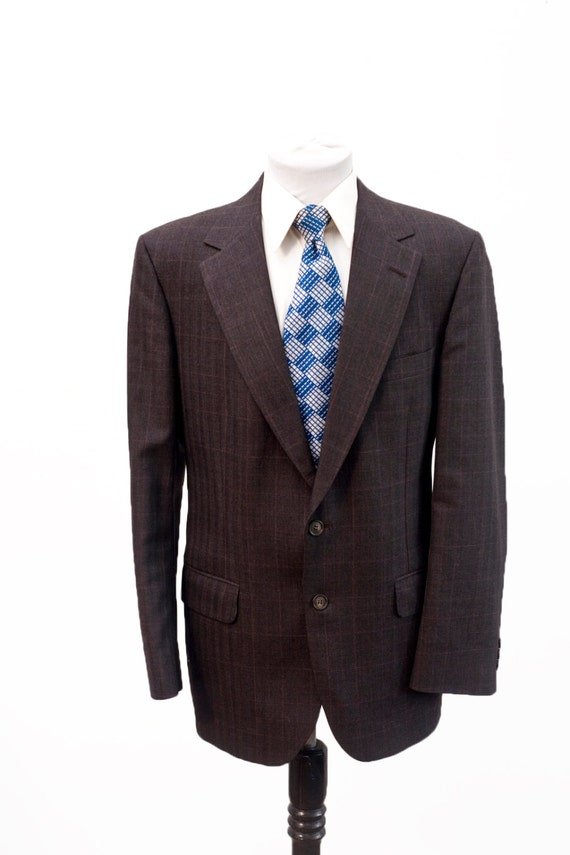 Men's Two-Piece Suit / Vintage Charcoal Grey Windo