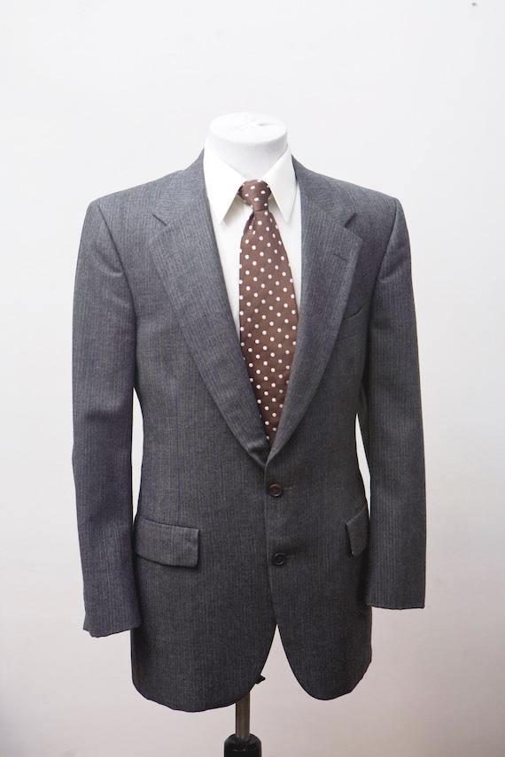 Size 41 Vintage Bill Blass Pinstripe Suit