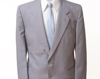 Men's Blazer / Vintage Grey Jacket / Size 42 Large