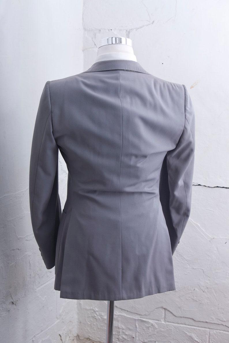 Men/'s 40 Blazer and Vest  Vintage Dove Grey Waistcoat and Jacket  Size Medium