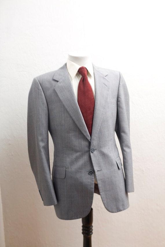 Men's large Suit / Vintage Grey Blazer and Trouser