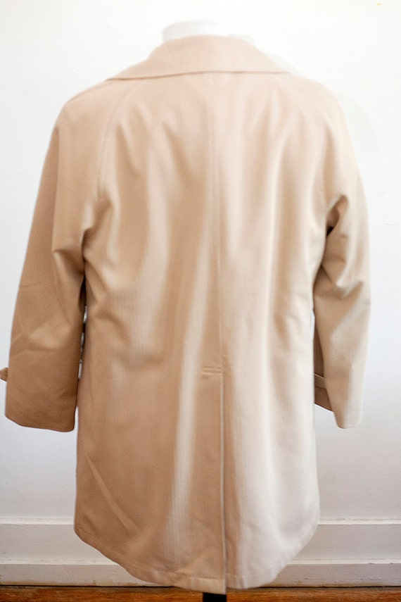 Men's Size 42 Beige Vintage Overcoat with Removab… - image 4