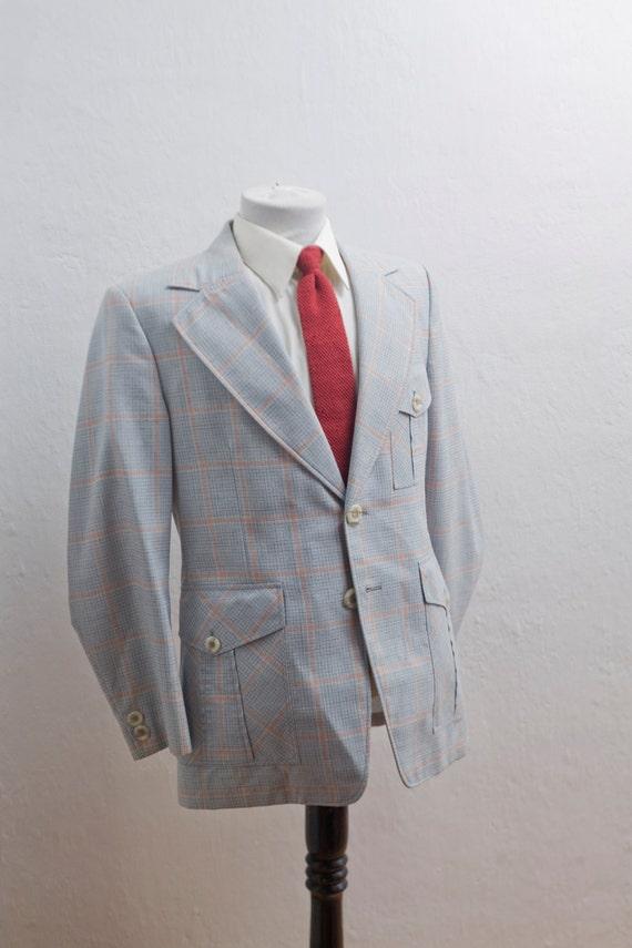 Blazer hommes / veste Plaid Vintage / taille 40 petit moyen
