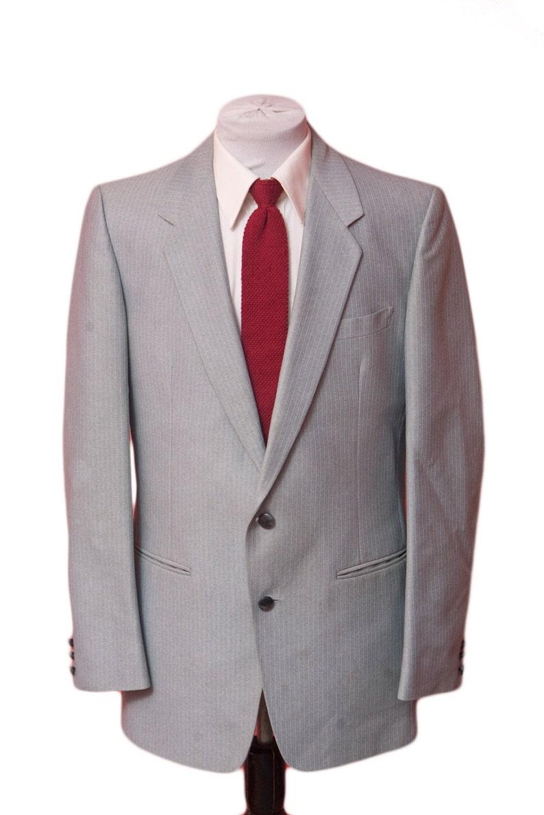 d04fe84ac03b8 Marynarka męska/Vintage Grey pinstripe kurtka/rozmiar 40 | Etsy