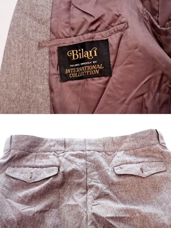 Men's Suit / Vintage Brown Blazer and Trousers / … - image 4