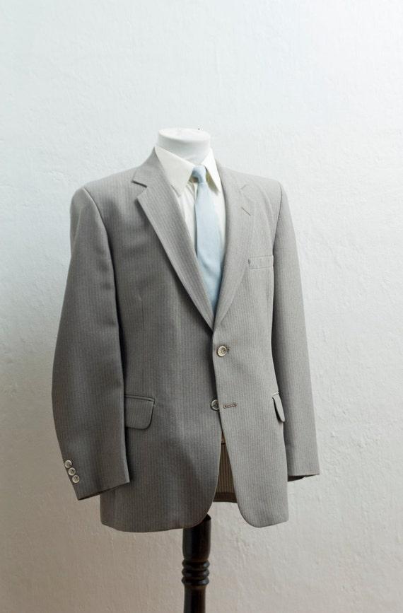 Costume pour hommes / grand XL Vintage gris/brun Blazer et pantalon / taille 42