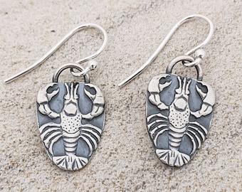 Lobster Earrings Essential Lobster Drop Earrings in Sterling Silver