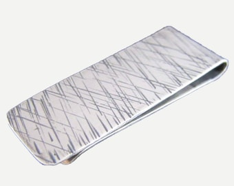 LINES Sterling Silver Money Clip