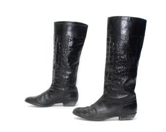 7e538f2a81b2c Versace boot | Etsy