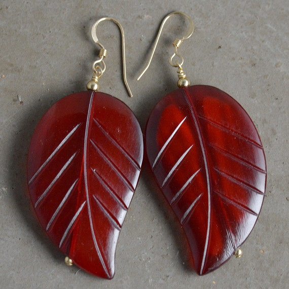 Kara Earrings in Oxblood or Black by Catherine Nicole